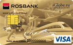 Изображение кредитной карты Росбанк - iGlobe VISA Gold